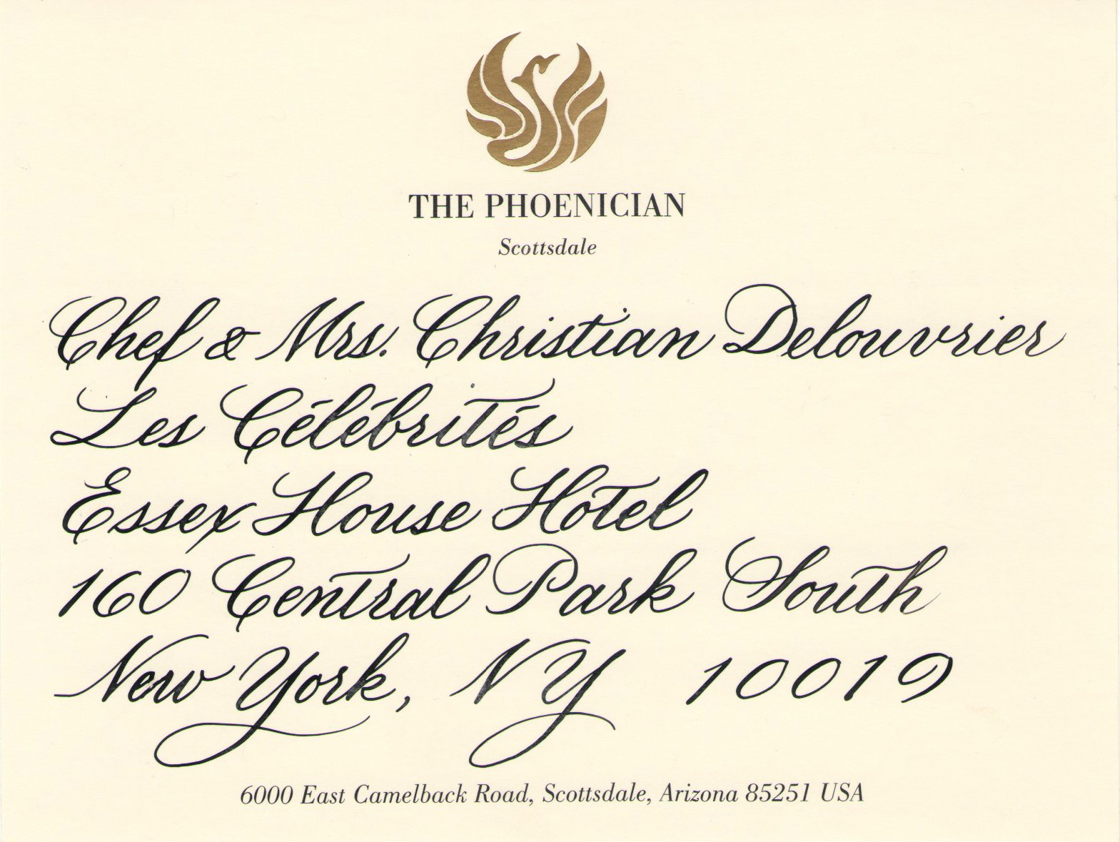 Art-Of-Excellence-The-Phoenician-Mobil-5-star-mailing-label-calligraphy