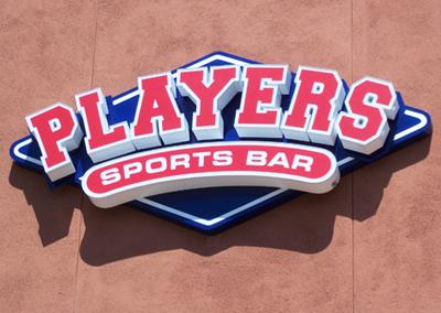 Players Sports Bar San Marcos external signage
