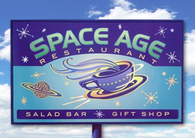 Space Age Restaurant Signage