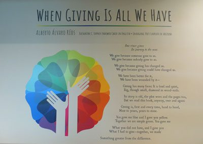 When Giving Is All We Have