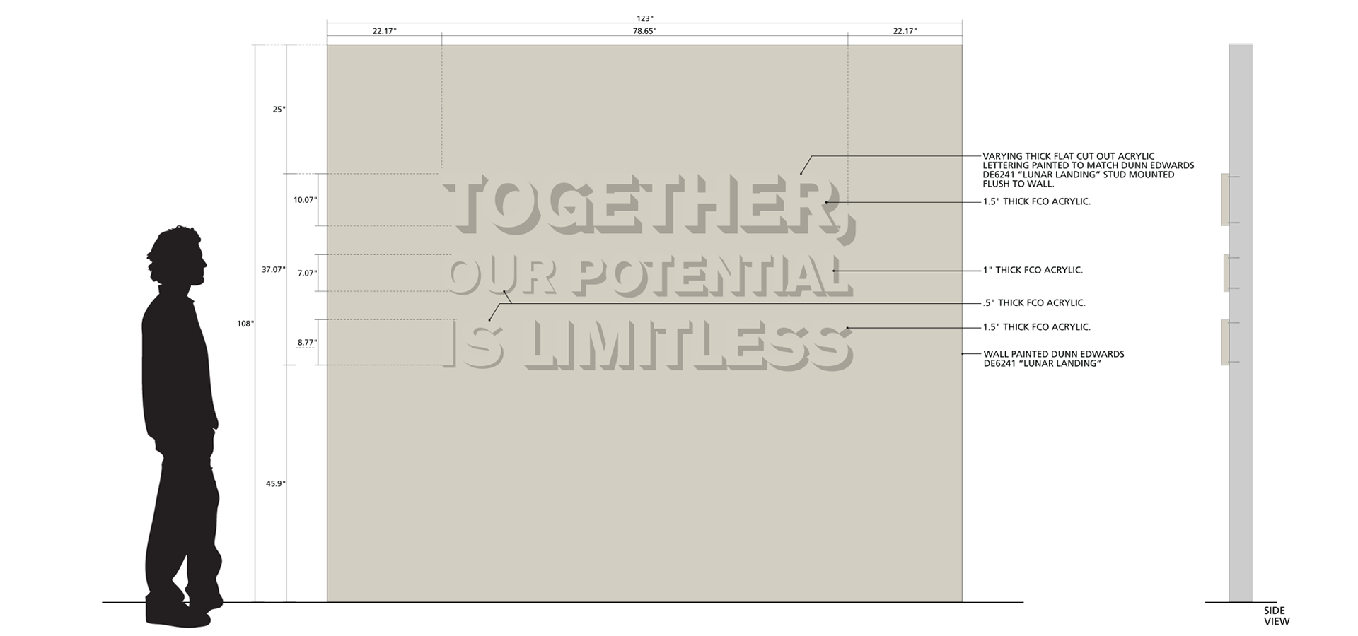 Together, Our Potential Is Limitless Fulton Center wall graphic