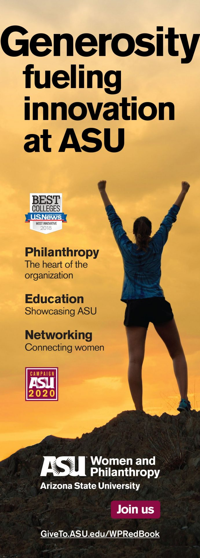 ASU Women and Philanthropy RedBook ad