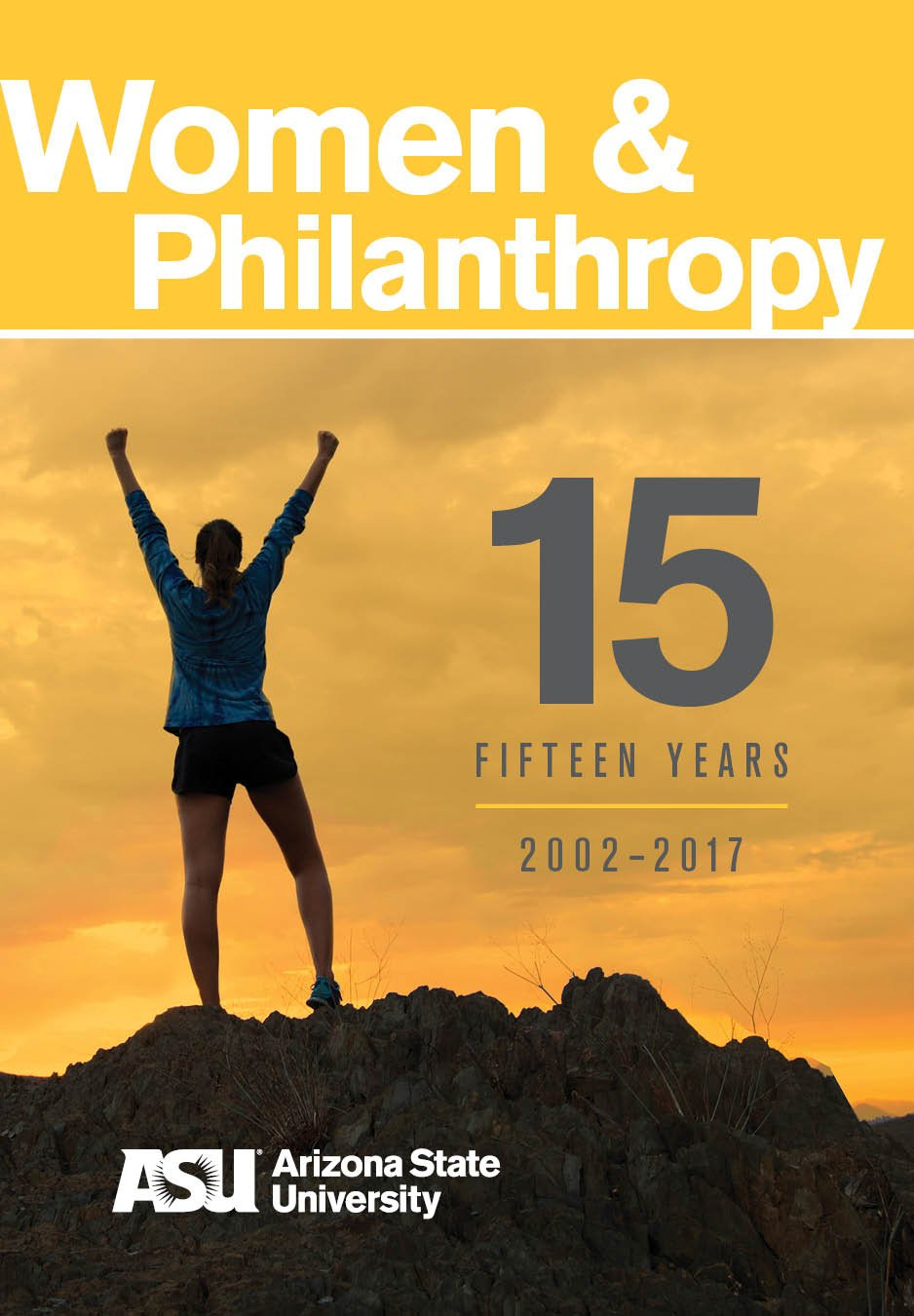 ASU Women and Philanthropy 15th anniversary booklet