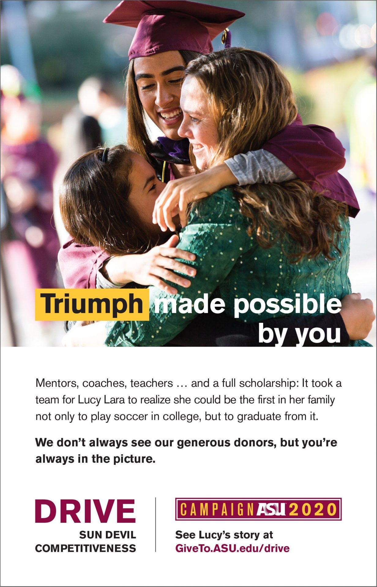ASU Gambill Half Page Ad Lucy Lara