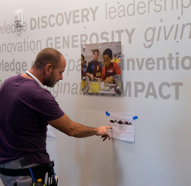 ASU Wall Philanthropy installation in the Fulton Center