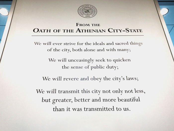 ASU Athenian Oath Wall Design