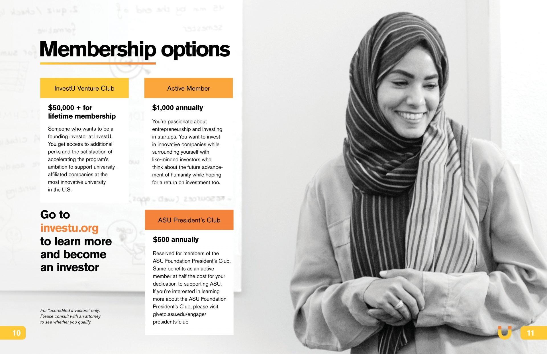 ASU InvestU Membership Brochure pages 10-11