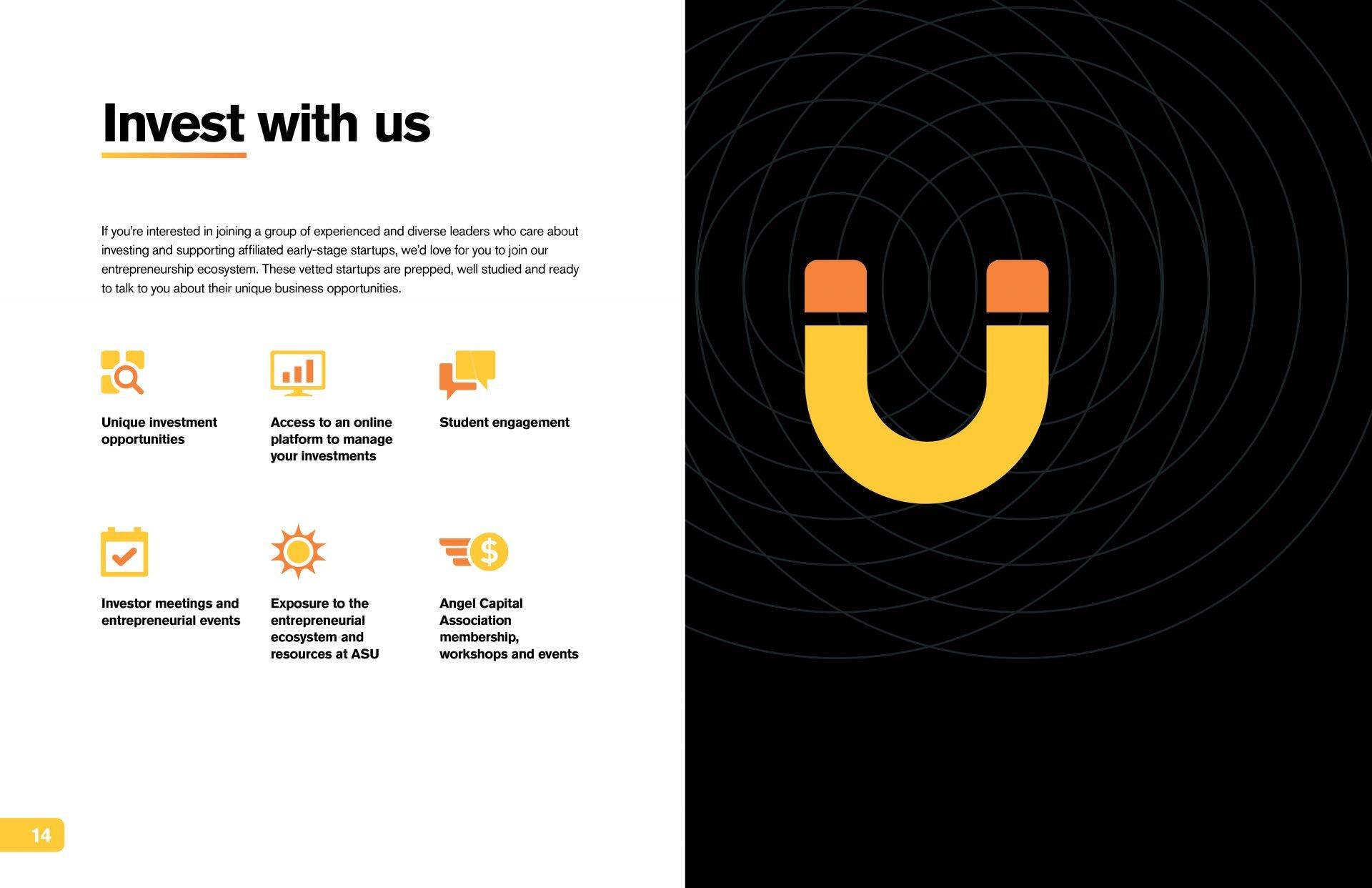 ASU InvestU Membership Brochure pages 14-15