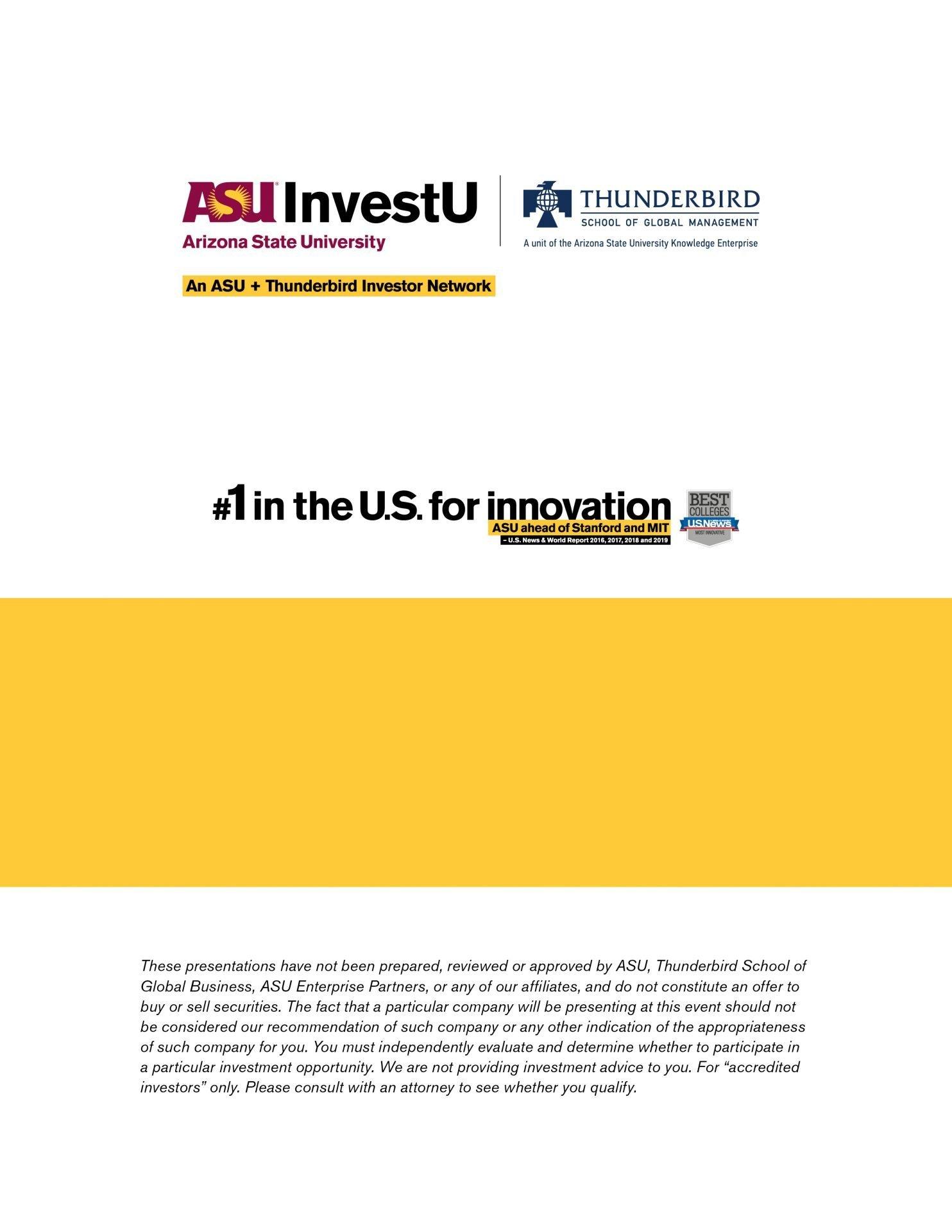 ASU InvestU Member Benefit Brochure Back Cover