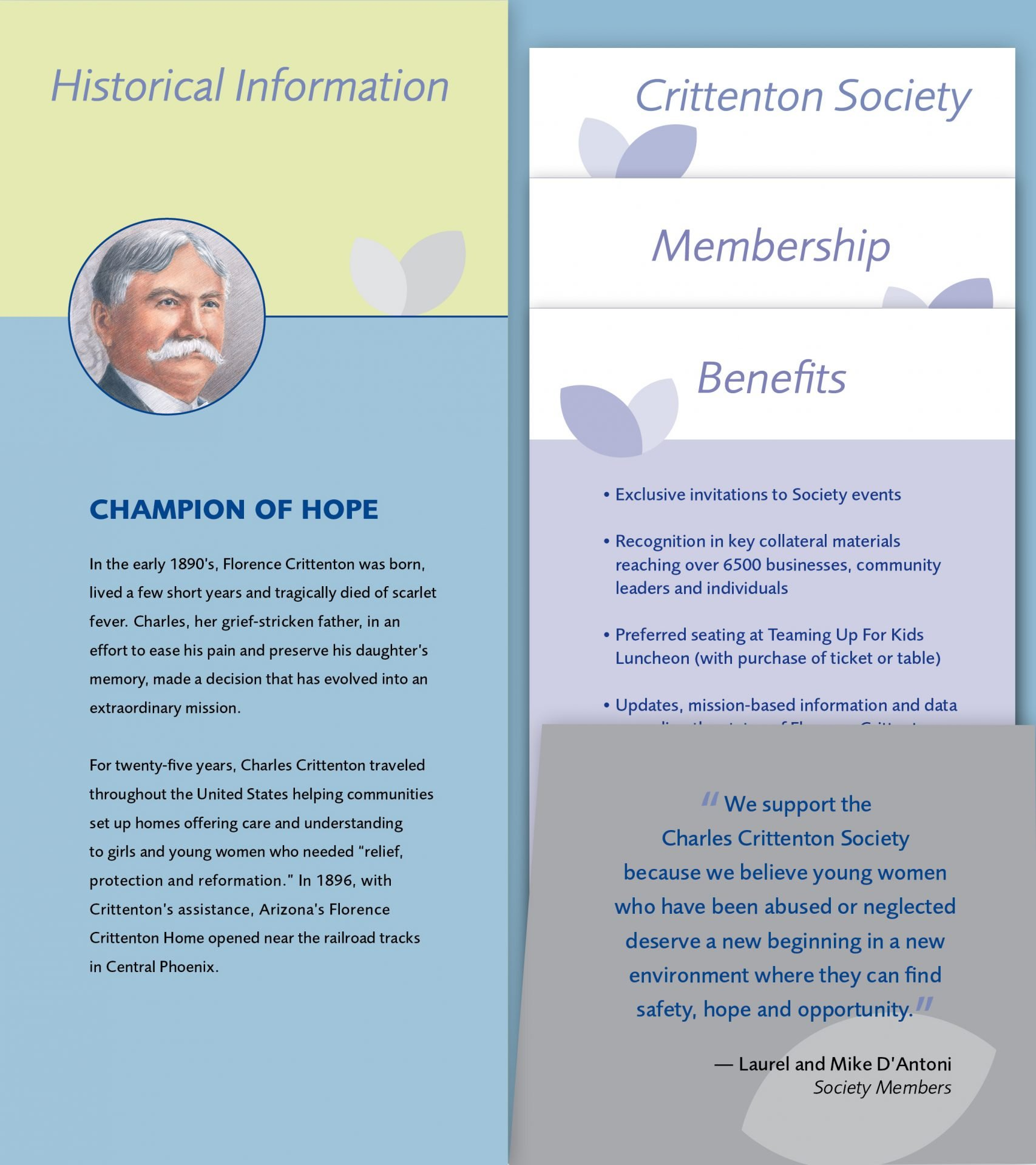 Charles-Crittenton-Society-brochure-pocket-fold-in-panel-inserts