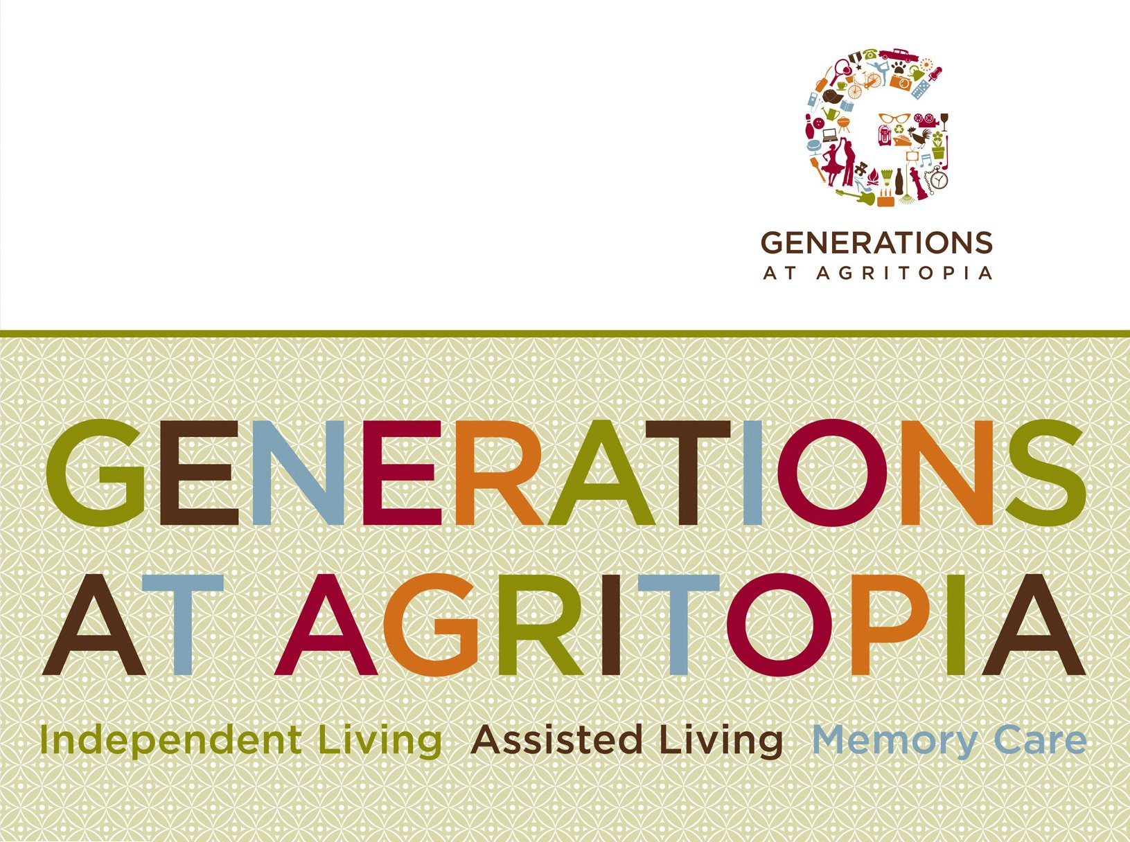 Generations at Agritopia Folder Front Cover, Lori Pasulka