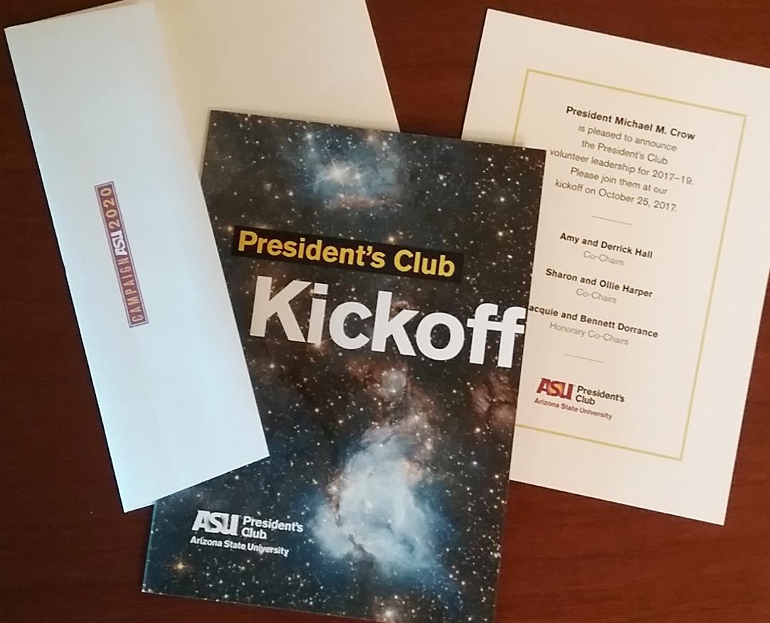 ASU President's Club Kickoff Invite