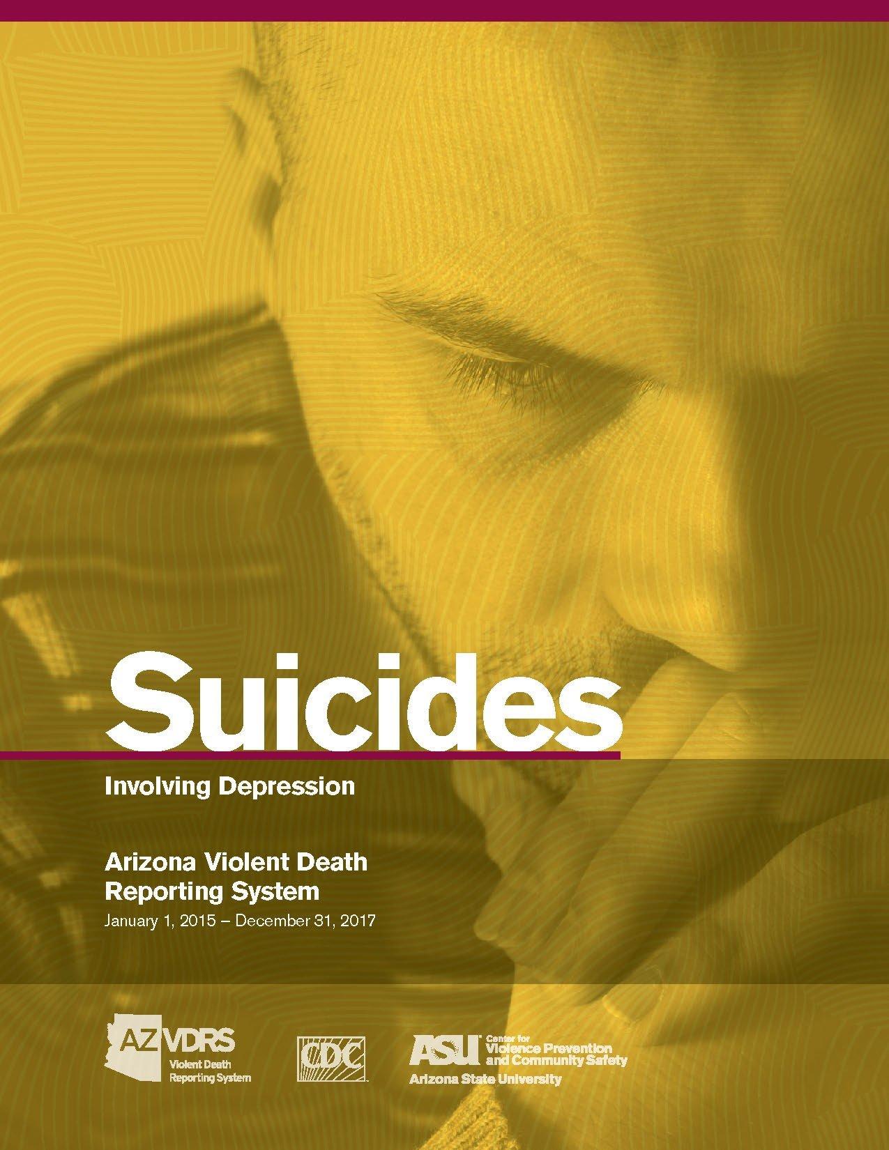 AZVDRS Suicides Involving Depression report cover
