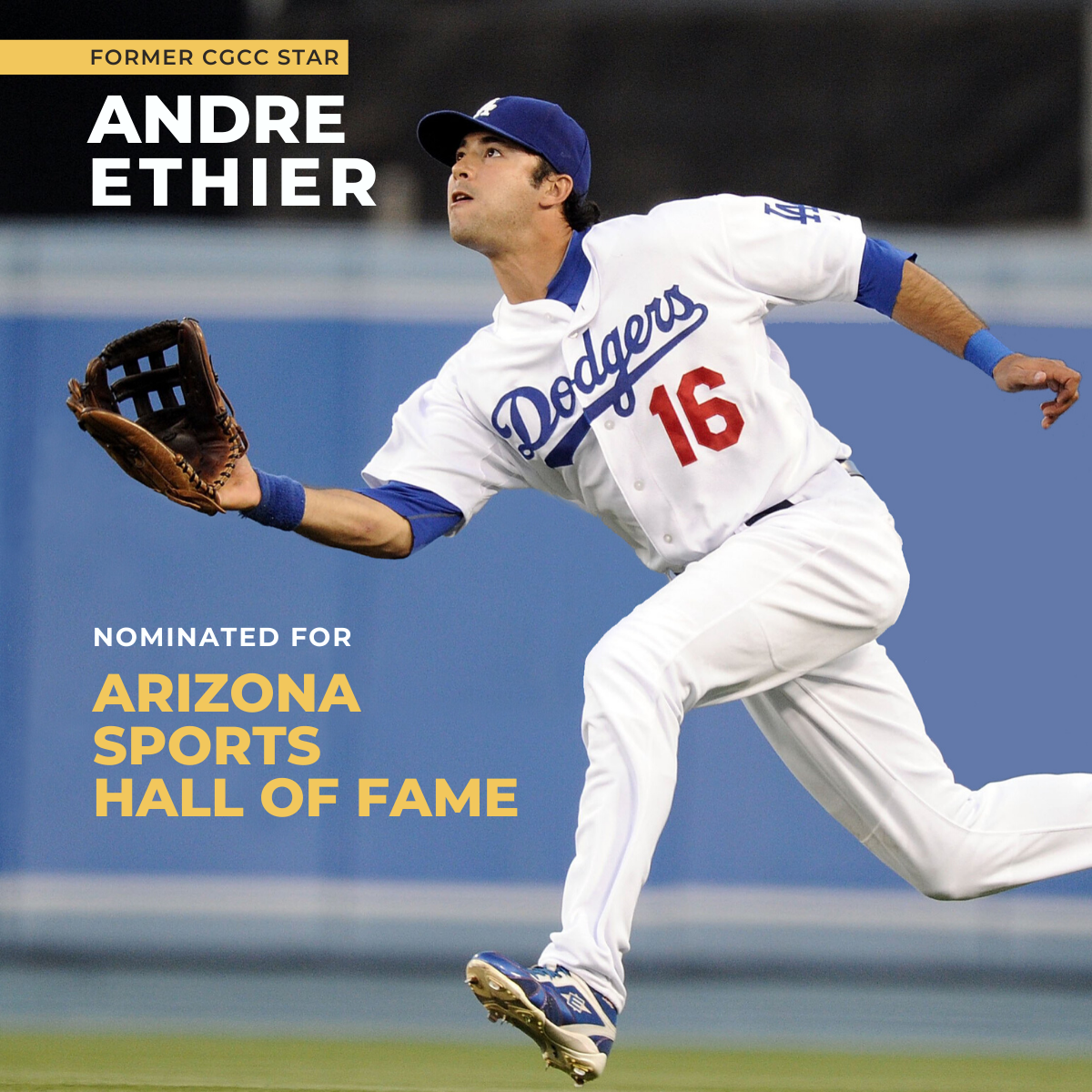 Andre Ethier AZ Sports Hall of Fame social post