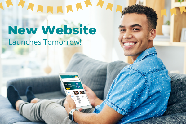 New Website Launches Tomorrow header