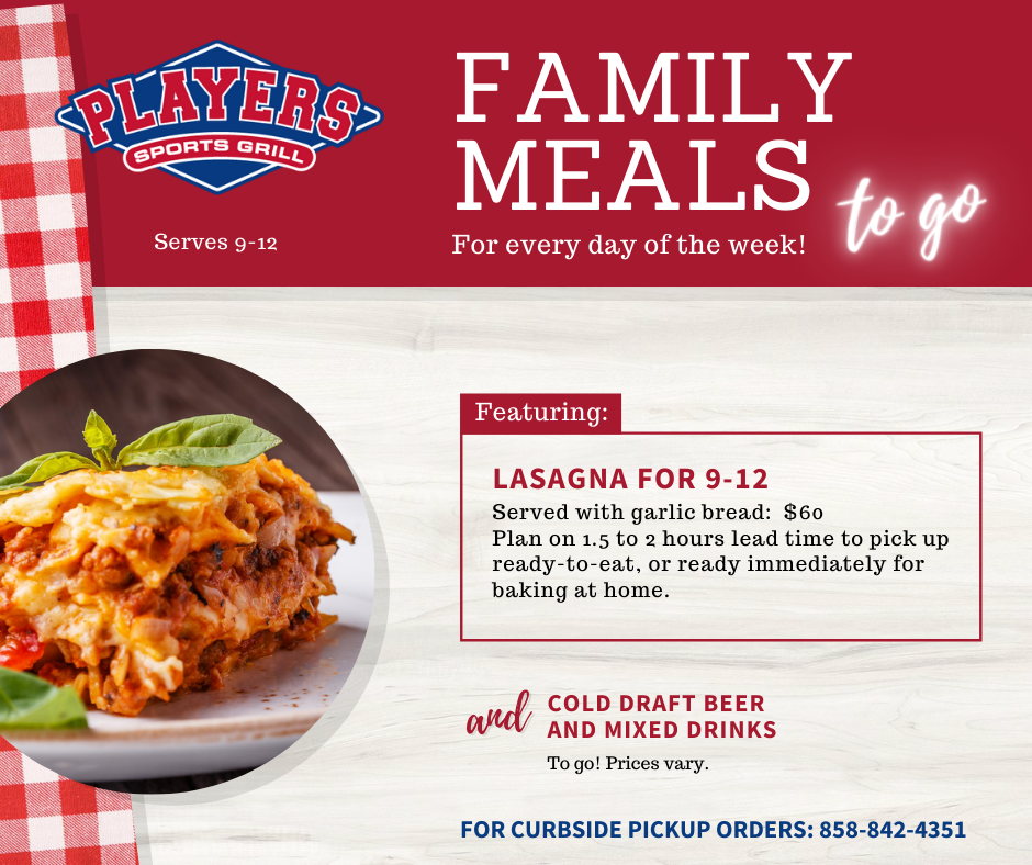 Family Meal Lasagna FB Post